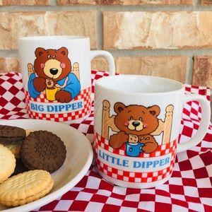 Vintage Avon Big Dipper Little Dipper Mugs